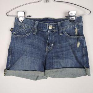 Rock & Republic Bumpershoot Denim Shorts Fray Hem